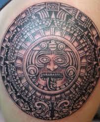 Aztec Tribal Shoulder Tattoos Photo 2