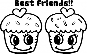 Beautiful Cute Cupcake Printable Coloring Pages Downloadtarget