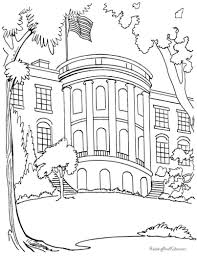 Printable White House Coloring Page