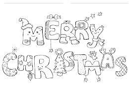 Merry Christmas Coloring Pages That Say 12