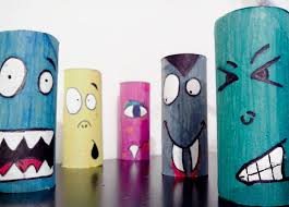 Halloween Crafts For Kids Upcycled Colorful Toilet Paper Rolls Home Decoration Ideas