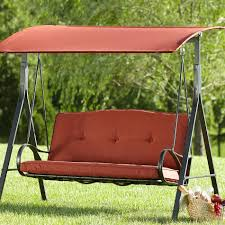 Grand Resort Patio Furniture by Grand Resort Oak Hill 3 Person Swing Outdoor Living Patio