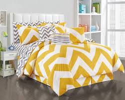 Yellow And Gray Chevron Bathroom Accessories by Bedroom Black And White Chevron Bed Set With Round Bedside Table