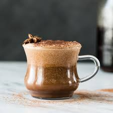 Front View Of A Glass Dairy Free Mocha Latte Recipe