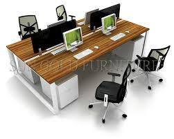 Space Saver Desk Workstation by Fashion Moddular Linear Space Saving Design Melamine Office