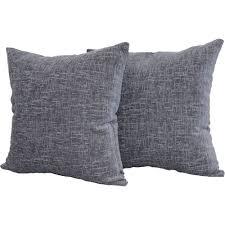 mainstays chenille decorative throw pillow set 2pk navy