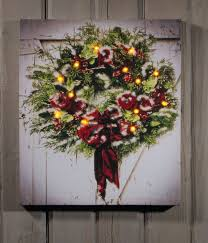 Raz Christmas Trees Wholesale by Christmas Wreath On Barn Lighted Picture Item 46548