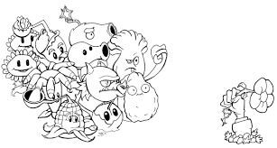 Resultado De Imagen Para Dibujos De Plantas Vs Zombies Para Colorear