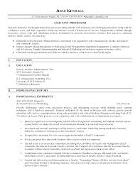 Sample College Professor Resume Examples Adjunct Faculty Fantastic Example For