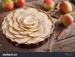 Homemade Delicious Traditional Apple Pie Sweet Dessert Preparation Recipe With Apples And Cinnamon On Vintage Wooden