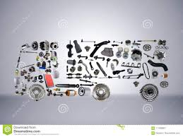 100 Truck Trailer Parts Images Assembled From New Spare Stock Image Image Of