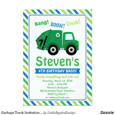 Garbage Truck Invitation / Garbage Truck Invite | Rubbish Truck And ... Garbage Truck Party Supplies Auraliamonster Amazoncom Happy Birthday Banner Green Chevron Tableware Kit For 16 Guests Invitation Template Photos And Description About Karas Ideas Monster Jam Crafts Love Matchbox Power Launcher Toys Games 85 Food With The Austins A Tonka 116 Scale Friction Powered Toy Recycling 11 Cool For Kids Lego City Great Vehicles 60118 Walmartcom