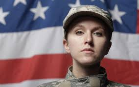 Female Soldier Saluting In Uniform