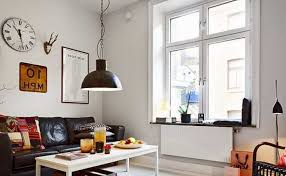 Hipster Living Room For New Trend Small Decorating With Brown Sofa And Styles