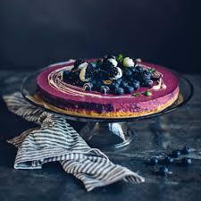 no bake heidelbeer brombeer cheesecake