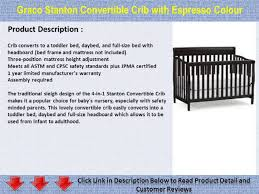 Bratt Decor Crib Assembly Instructions by Graco Stanton Convertible Crib With Espresso Colour Youtube