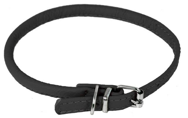 Dogline Leather Collar - Black