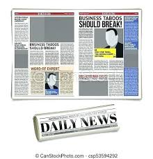 Number News Layout Template Newspaper Design