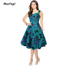 ruofegl butterfly print robes vintage retro dress 2017 casual