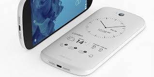 This is YotaPhone s new white dual screen smartphone