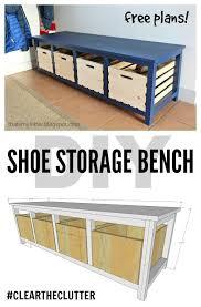 Diy Shoe Storage Bench Free Plans Scrapworklove