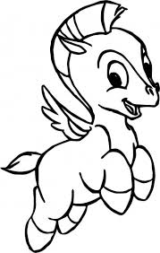 Realistic Pegasus Coloring Pages Free Library Baby 1944391