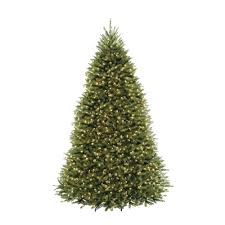 9 Ft Pre Lit Dunhill Fir Hinged Artificial Christmas Tree With Clear Lights