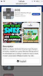 Install SNES emulator on your iPhone or iPad without jailbreaking
