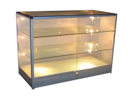 lighted glass display cabinet 93 with lighted glass display