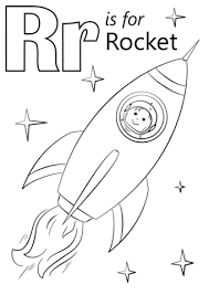 Click To See Printable Version Of Letter R Is For Rocket Coloring Page