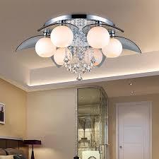 moderne k9 kristall colrful led deckenleuchte diy home deco wohnzimmer glas e27 deckenleuchte entfernteren