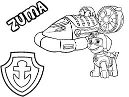 Paw Patrol Tracker Printable Coloring Pages Rocky Page Awesome