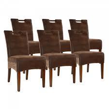 rattanstuhl esszimmerstuhl set bilbao 6 stück vollgepolstert polster prairie brown