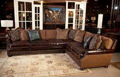 Bernhardt Foster Leather Furniture by Bernhardt Foster Fabric Leather Sectional Group 5192lco