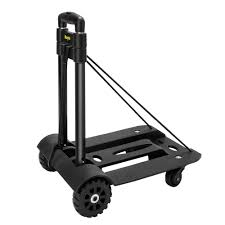 100 Hand Truck Vs Dolly Folding Luggage Cart Push Trolley With 2 Fixed 2