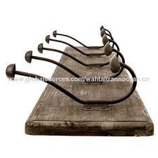China Coat Hook Vintage Wooden Rack Rustic Style