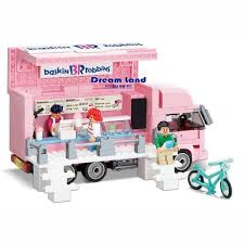 100 Toy Ice Cream Truck OXFORD Sweet Kids Block HS33914 420PCS