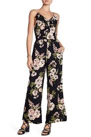 Angie Floral Ruffle Wide Leg Jumpsuit