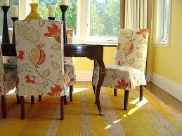 Fabric Dining Room Chair Covers How To Select Flowers Pattern Seat