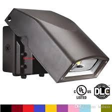 ul dlc led wall pack light ac 110 277v 50w 80w led outdoor wall