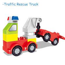 100 Big Toy Trucks 125PCS DIY Size Blocks Cars Model Figures Parts