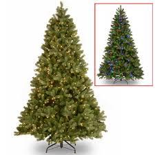 National Tree Company 75 Ft Downswept Douglas Fir Artificial Christmas With Dual Color LED