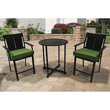 Amazon Prime Patio Chair Cushions by Amazon Com Sea Breeze Patio Furniture 3 Piece Cushion Balcony Set