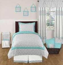 Sweet Jojo Chevron Curtains by Sweet Jojo Designs Turquoise Gray Twin Chevron Bedding Set For