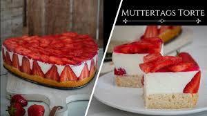muttertags herz mit erdbeeren mega einfach wunderkuchen