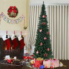 9FT 27M Green Artificial Christmas Tree Xmas Trees Slim For Small Room Lush Tip