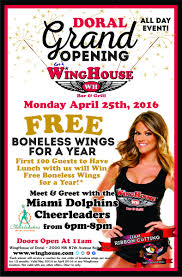 100 The Wing House Bar And Grill Comes To Doral Florida