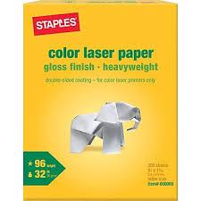 Staples Color Laser Paper 8 1 2