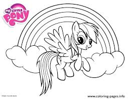 My Little Pony Coloring Pages Fluttershy Rainbow Dash For