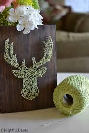 DIY Deer String Art Great Rustic Christmas Decor